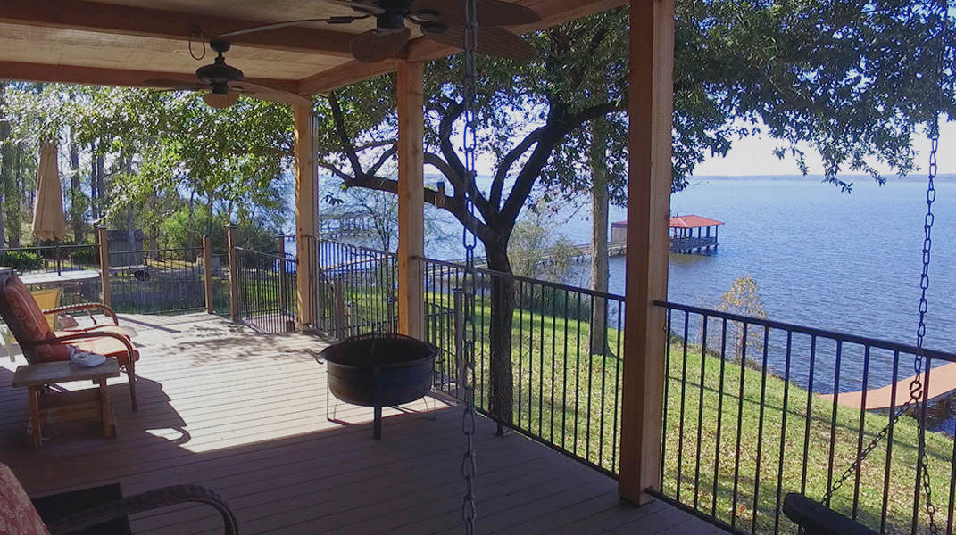 Back Patio View from Swing - Toledo Bend Lakehouse