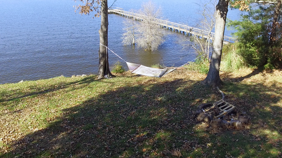 Hammock and Fire Ring  - Toledo Bend Lakehouse