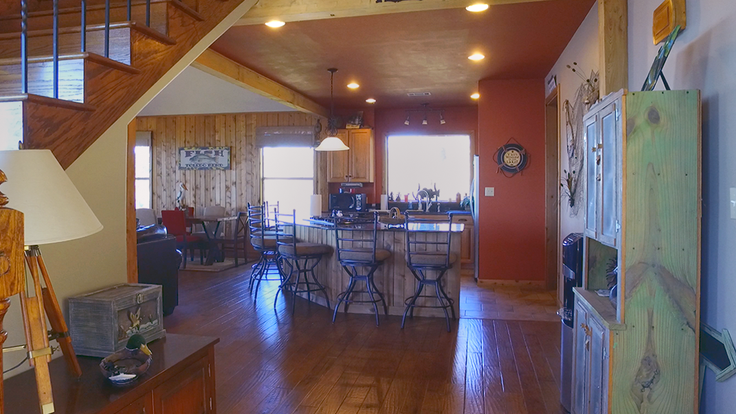 Kitchen View from Entryway  - Toledo Bend Lakehouse