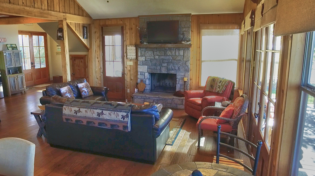Living Area with Fireplace  - Toledo Bend Lakehouse