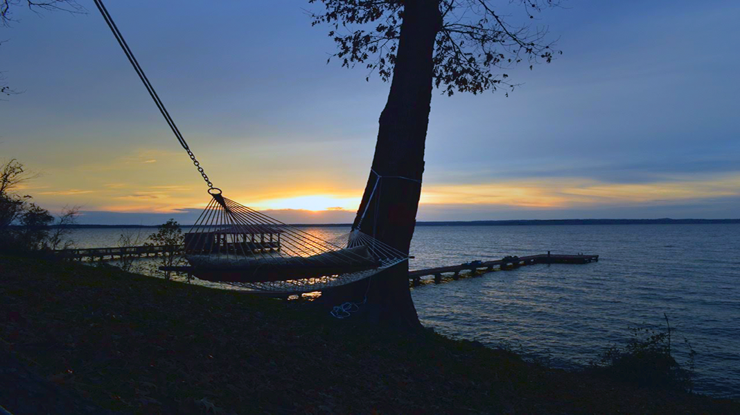 Sunset from Hammock - Toledo Bend Lakehouse