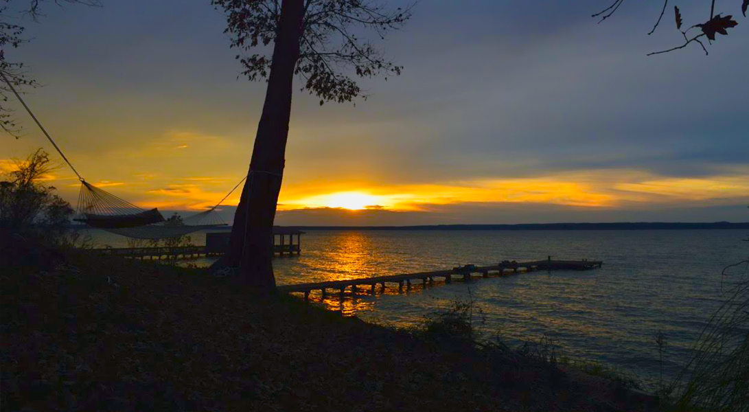 Sunset from Hammock2 - Toledo Bend Lakehouse