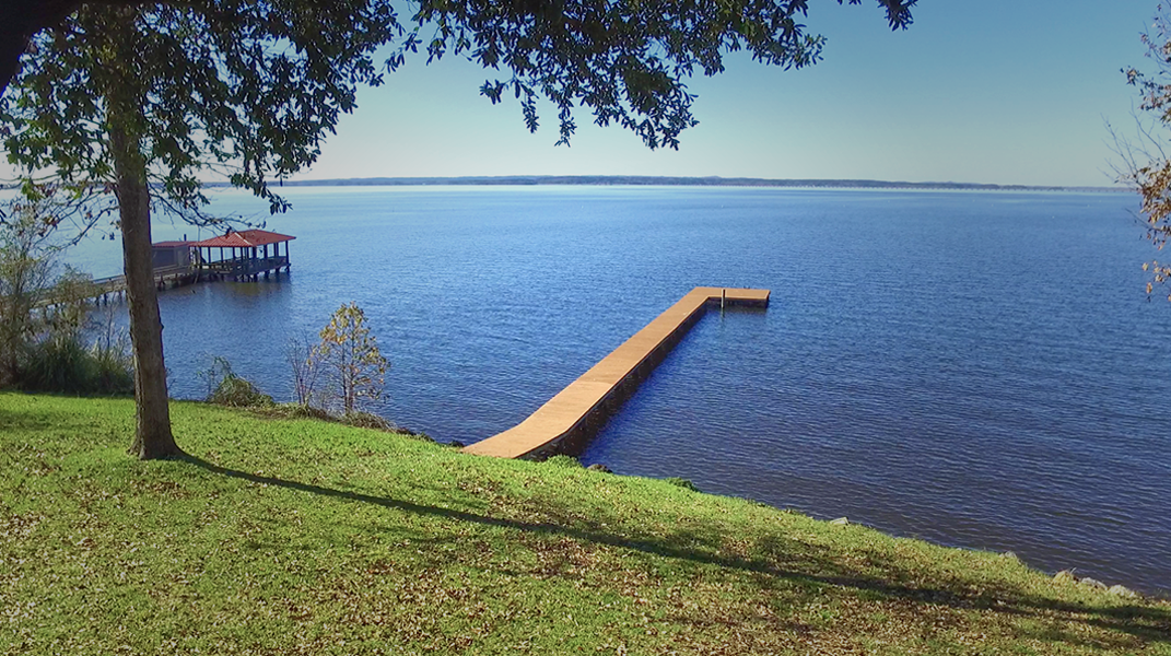 View of Pier from back yard  - Toledo Bend Lakehouse
